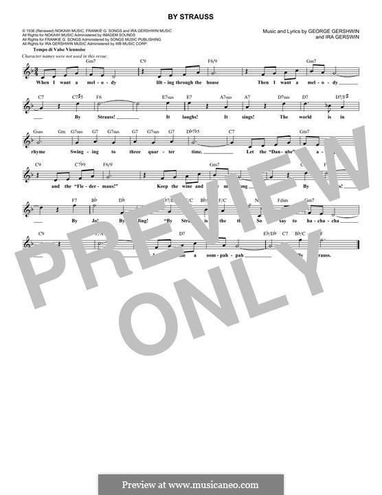 By Strauss: Мелодия by Джордж Гершвин