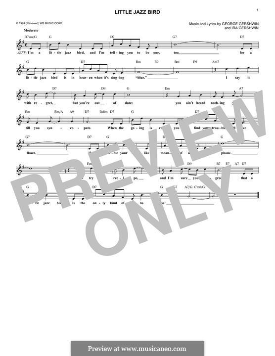 Little Jazz Bird: Мелодия by Джордж Гершвин