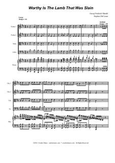 No.53 Достоин Агнец закланный: Для струнного квартета by Георг Фридрих Гендель
