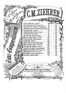 Bruder Liederlich für Violine und Klavier, Op.107: Stimmen by Карл Михаэль Цирер