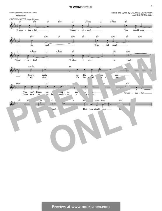 'S Wonderful: Мелодия by Джордж Гершвин