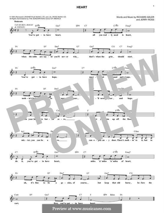 Heart: Мелодия by Jerry Ross, Richard Adler