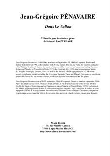 Dans le Vallon, Villanelle: Для гобоя и фортепиано by Jean-Grégoire Pénavaire