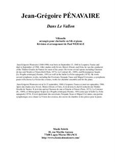 Dans le Vallon, Villanelle: For Bb clarinet and piano by Jean-Grégoire Pénavaire