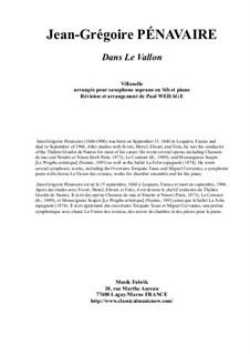 Dans le Vallon, Villanelle: For Bb soprano saxohone and piano by Jean-Grégoire Pénavaire