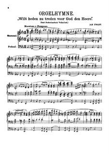 Три народные нидерладские песни для органа: Три народные нидерладские песни для органа by Ян Зварт