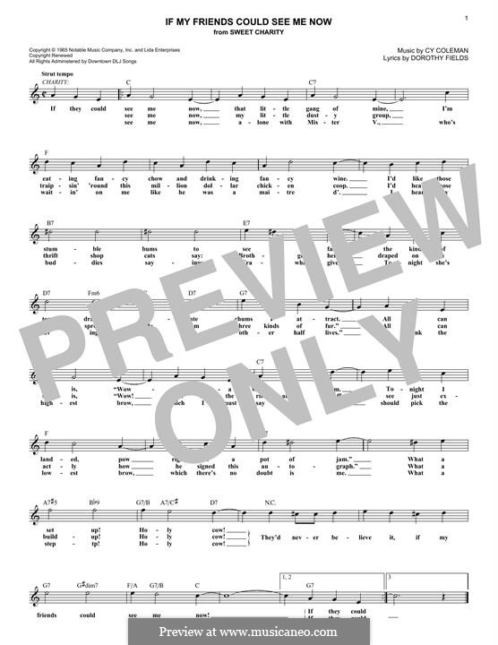 If My Friends Could See Me Now (from Sweet Charity): Мелодия by Cy Coleman