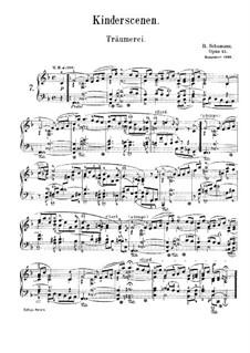 No.7 Грезы: Для фортепиано (с аппликатурой) by Роберт Шуман