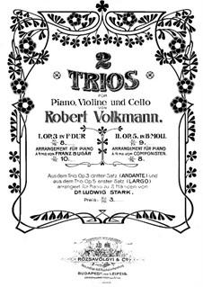 Фортепианное трио No.2 си-бемоль минор, Op.5: Партитура by Роберт Фолькманн