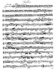 Квартет для флейты и струнных No.3 до мажор, Op.37: Партия скрипки by Рафаэль Дресслер