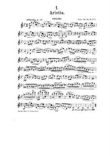 Шесть багателей для скрипки и фортепиано, Op.51: No.1 Ариетта – Партия by Цезарь Кюи