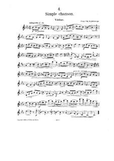 No.4 Simple chanson: Сольная партия by Цезарь Кюи