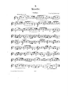 No.3 Мюзет: Партитура by Цезарь Кюи