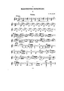 Семь миниатюр для скрипки и фортепиано, Op.39: Сольная партия by Цезарь Кюи