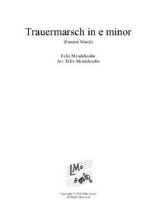 Песни без слов, Op.62: No.3 Funeral March, for brass sextet by Феликс Мендельсон-Бартольди