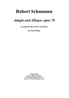 Адажио и Аллегро, Op.70: For Bb clarinet and piano by Роберт Шуман