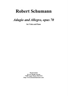 Адажио и Аллегро, Op.70: Для альта и фортепиано by Роберт Шуман