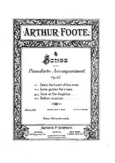 Четыре песни, Op.67: No.3 Once at the Angelus by Артур Фут