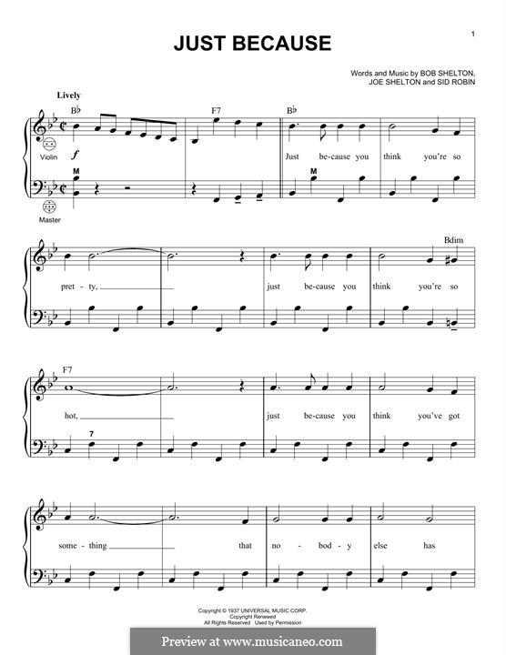 Just Because: Для аккордеона by Bob Shelton, Joe Shelton, Sid Robin
