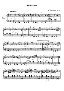 No.11 Сицилийская песенка: Для фортепиано by Роберт Шуман