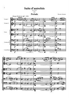 Suite d'autrefois, per Orchestra d'Archi: Suite d'autrefois, per Orchestra d'Archi by Renato Insinna