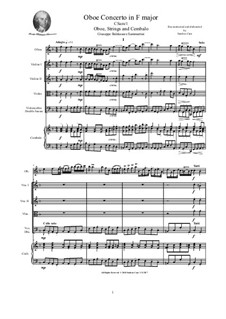 Oboe Concerto in F major No.1, CSam/1: Score, parts by Джузеппе Саммартини