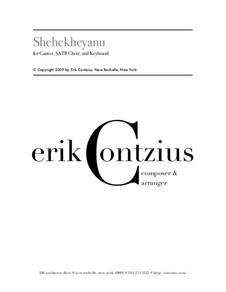Shehekheyanu: Партитура by Erik Contzius