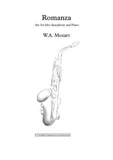 Romanza for Alto Saxophone and Piano: Romanza for Alto Saxophone and Piano by Вольфганг Амадей Моцарт