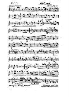 Большой блестящий вальс ми-бемоль мажор, Op.18: Для струнного квинтета – Партия первой скрипки by Фредерик Шопен