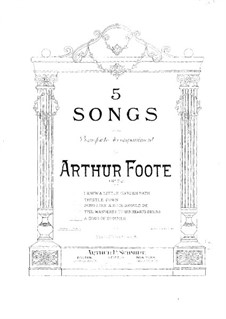 Five Songs. No.5 A Song of Summer, Op.72: Five Songs. No.5 A Song of Summer by Артур Фут