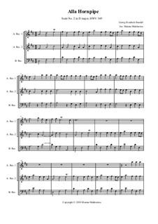 Сюита No.2 ре мажор, HWV 349: Alla Hornpipe, для трио блокфлейт by Георг Фридрих Гендель