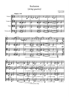 Seclusion (string quartet): Seclusion (string quartet) by Jordan Grigg