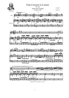 Concerto for Flute, Two violins, Cellos and Cembalo in A minor, RV 108: Version for flute and cembalo (or piano) by Антонио Вивальди