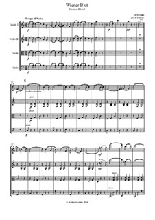 Венская кровь, Op.354: Для струнного квартета by Иоганн Штраус (младший)