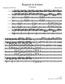 Confutatis and Lacrimosa: For cello octet by Вольфганг Амадей Моцарт