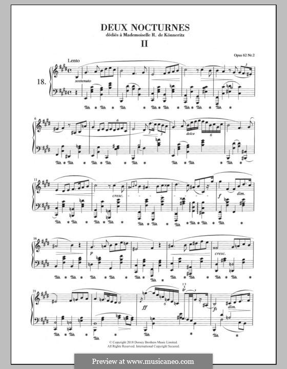 Ноктюрны, Op.62: No.2 in E Major by Фредерик Шопен