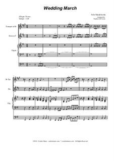 Свадебный марш: Duet for Bb-trumpet and french horn by Феликс Мендельсон-Бартольди