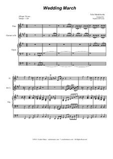 Свадебный марш: Duet for flute and Bb-clarinet by Феликс Мендельсон-Бартольди