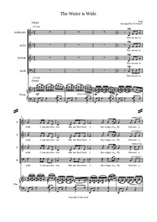The Water is Wide: For mixed choir and piano by folklore