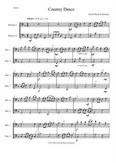 Country dance: For 2 bassoons by Дэвид Соломонс