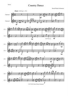 Country dance: For 2 clarinets by Дэвид Соломонс