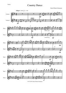 Country dance: For 2 violins by Дэвид Соломонс