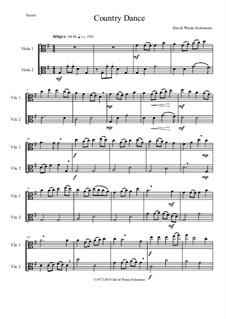 Country dance: For 2 violas by Дэвид Соломонс