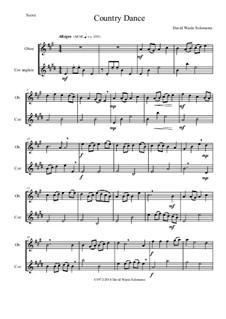 Country dance: For oboe and cor anglais by Дэвид Соломонс
