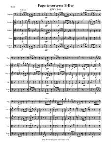 Konzert für Fagott B-Dur - Score & parts, GWV 340: Konzert für Fagott B-Dur - Score & parts by Кристоф Граупнер