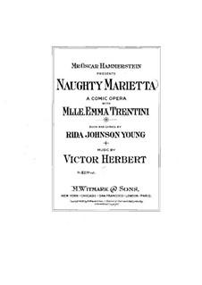 Капризная Мариэтта: Акт I, клавир с вокальной партией by Виктор Герберт