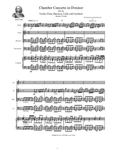 Concerto in D minor for Violin, Flute, Bassoon, Cello and Cembalo, RV 96: Concerto in D minor for Violin, Flute, Bassoon, Cello and Cembalo by Антонио Вивальди