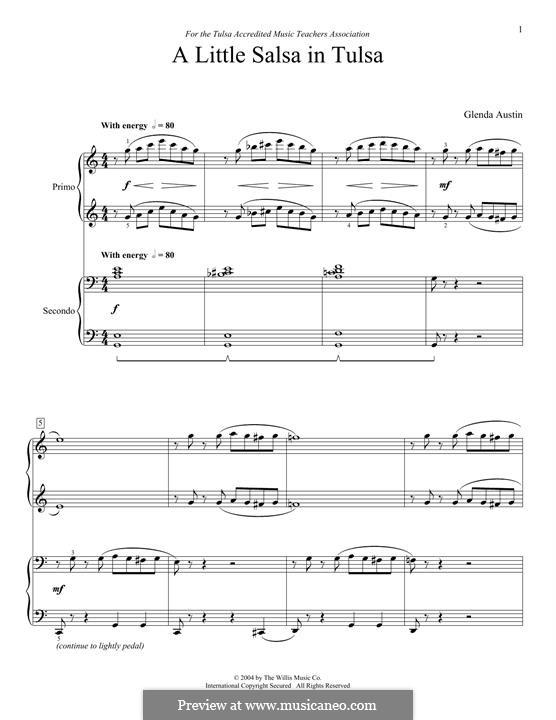 A Little Salsa in Tulsa: Для фортепиано в 4 руки by Glenda Austin