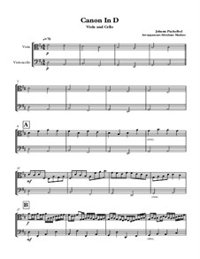 Канон ре мажор: Violin cello duet by Иоганн Пахельбель