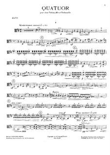 Струнный квартет ре мажор: Партия альта by Альбер Дуайен